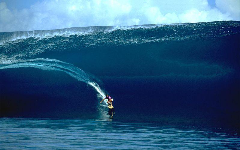 laird hamilton surfing in tahiti