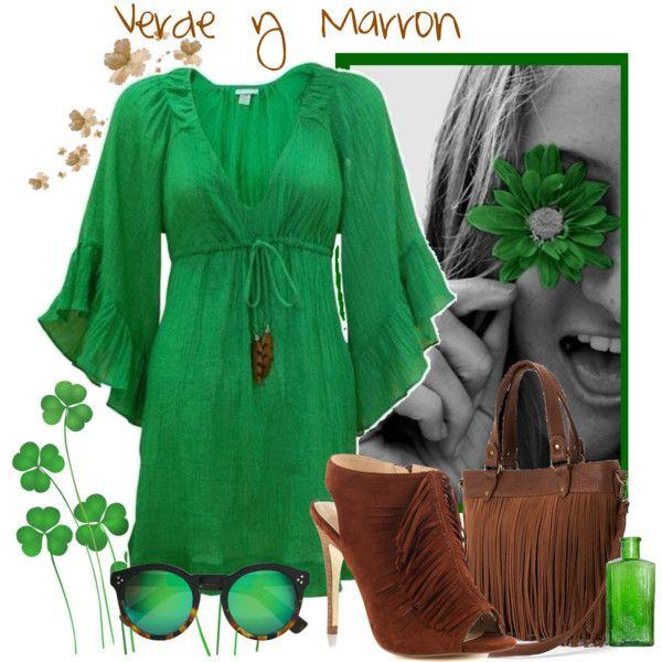Verde y Marrón