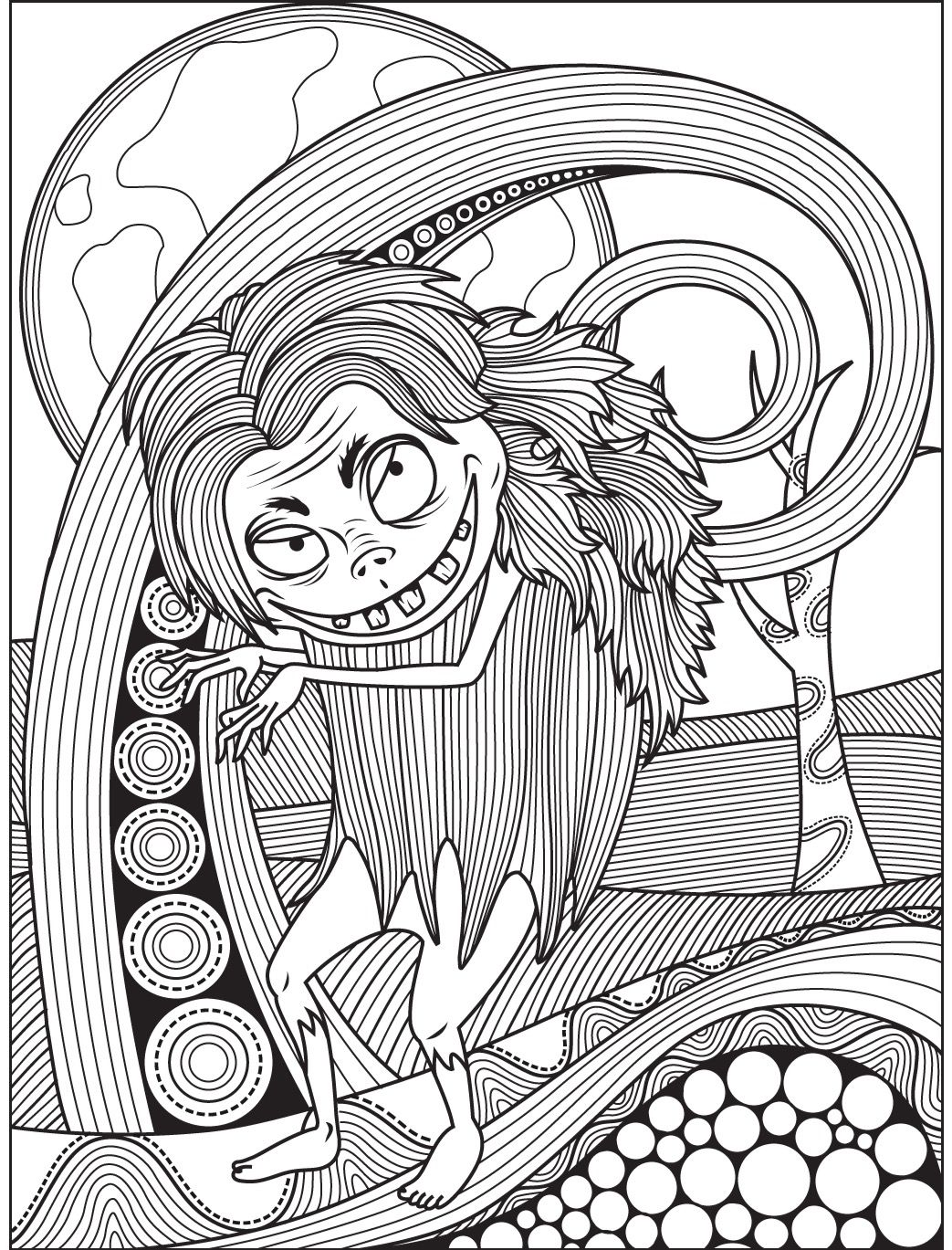 Halloween coloring page | Colorish: free coloring app for adults by ...