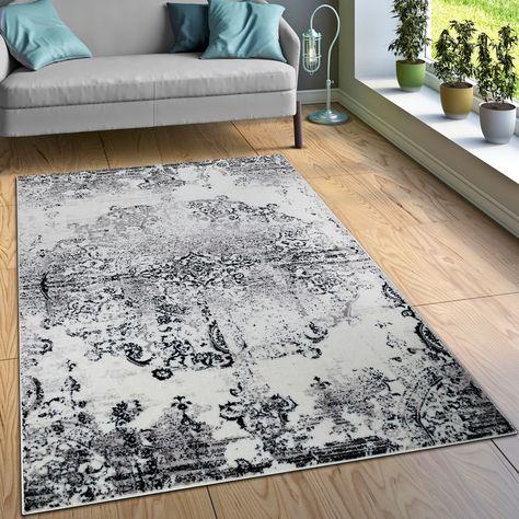 Designer Teppich Ornamente Schwarz Weiß Pinterest
