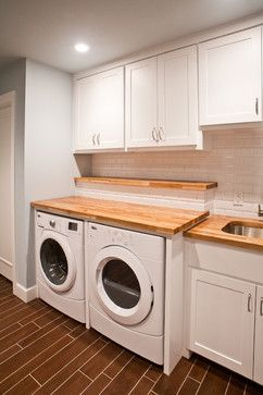 Traditional Laundry Room Sink And Countertop Idea Laundry Room Countertop Laundry Room Design Laundry Room Makeover