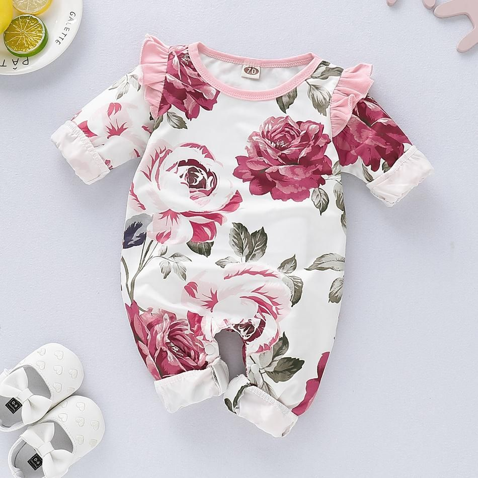 Baby Vintage Style Romper Girls Floral Romper Baby Dress /& Headband Baby Outfit Thanks Giving Outfit Baby Girl Romper Baby Shower Gift