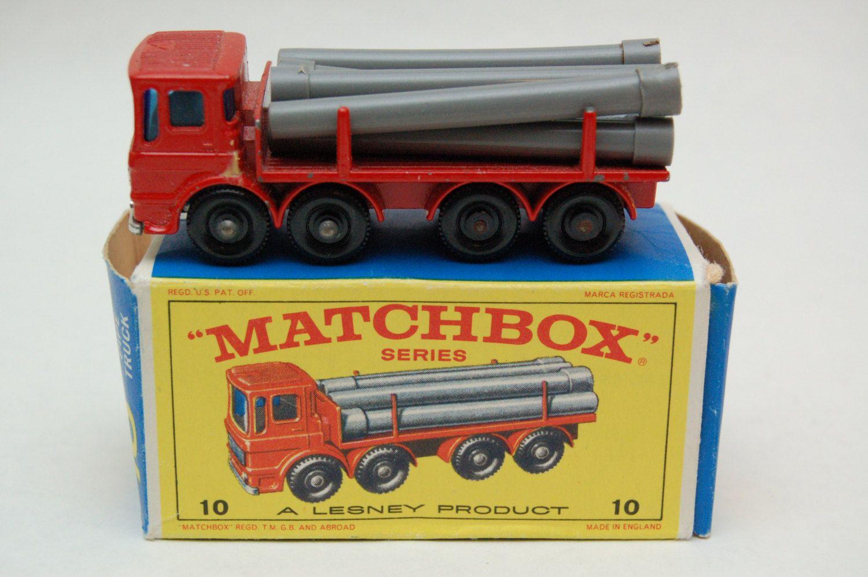 Matchbox Lesney 10 Leyland Pipe Truck with Original Box