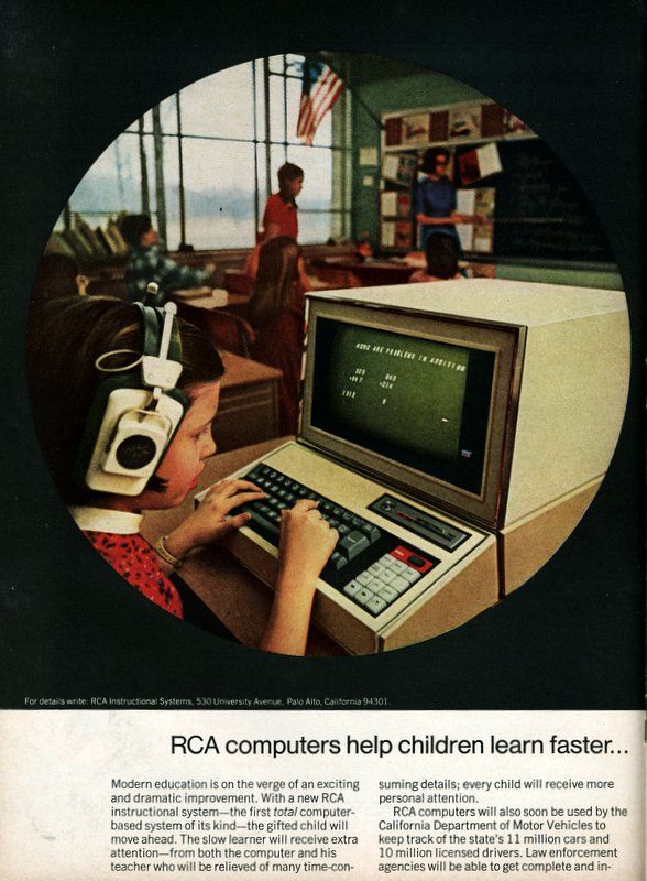 Advertisement For RCA Computer Assisted Learning System 1967