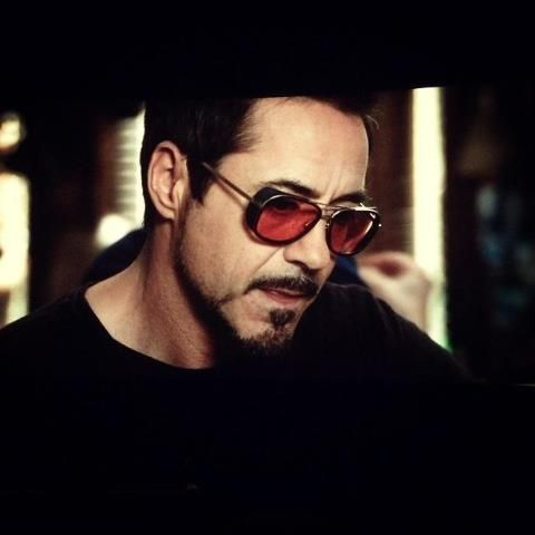 IRON MAN 3 - Robert Downey Jr. sporting glasses MATSUDA eyewear #Matsuda #GetTheLook #JosephsonOpticians