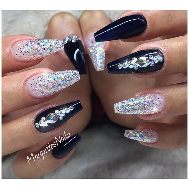 sparkling nail design | Ideas | Pinterest | Nagelschere ...