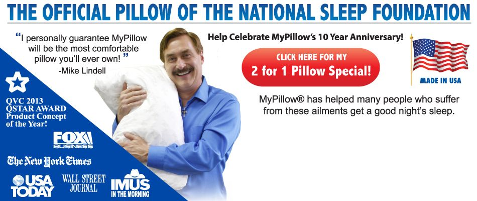 best mypillow offer ever buy one get one free buy direct and save today dennis prager highly recommends this pillow