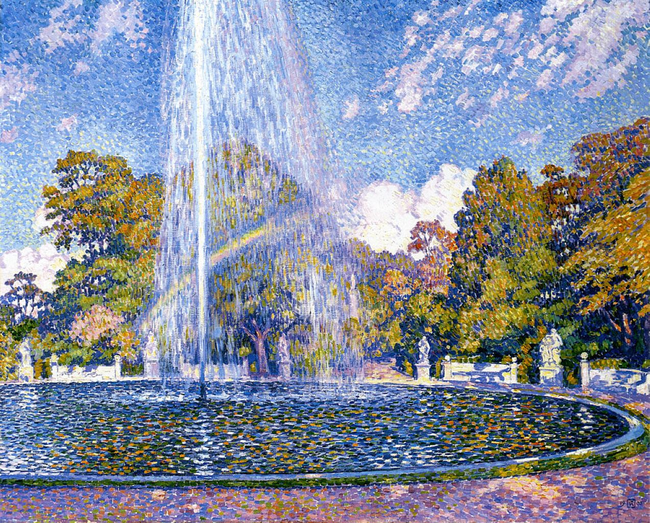 Theo van Rysselberghe - Fountain at San Souci, 1903