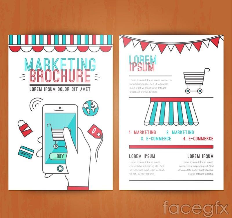 Creative Marketing Brochure Vector Graphics  Free Vectors
