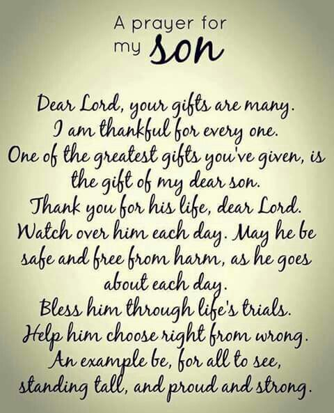 Son Quotes Prayer For My Son Son Quotes Inspirational Quotes