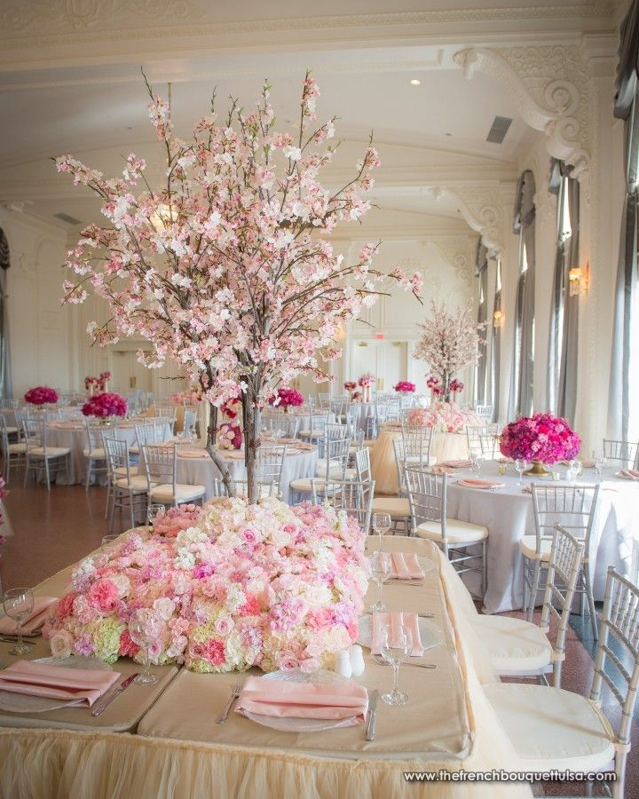 Pink Cherry Blossom Tabletop Tree for Centerpiece - The French ...