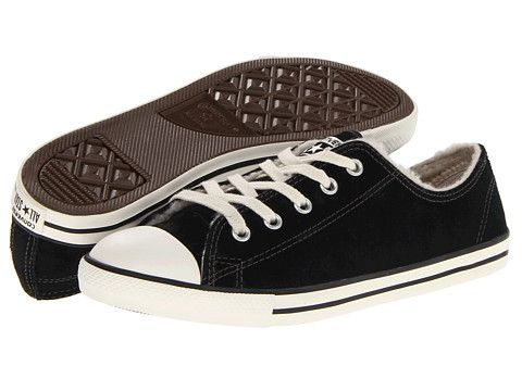 5798aa660539 Converse Chuck Taylor® All Star® Dainty Suede Shearling Ox Black -  Zappos.com Free Shipping BOTH Ways