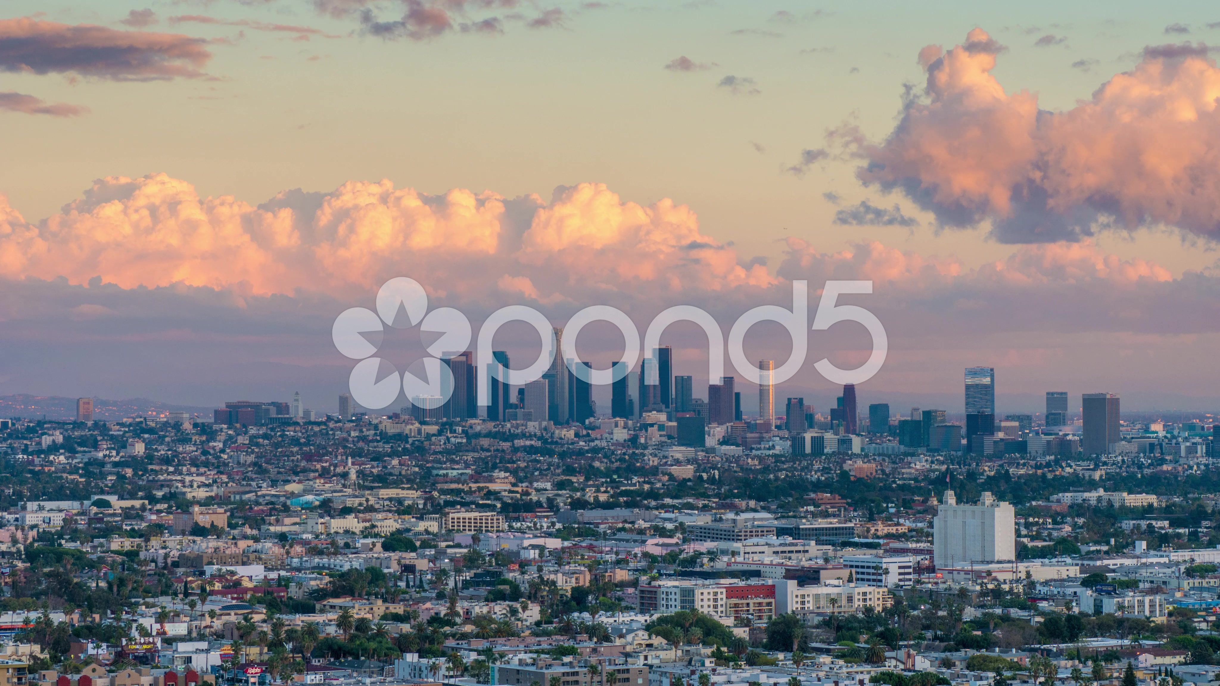 City Of Los Angeles Skyline Changing From Day To Night 4k Uhd Timelapse Stock Footage Skyline Changing Angeles City Los Angeles Skyline Skyline City