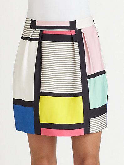 Kate Spade New York  Barry Colorblock Skirt