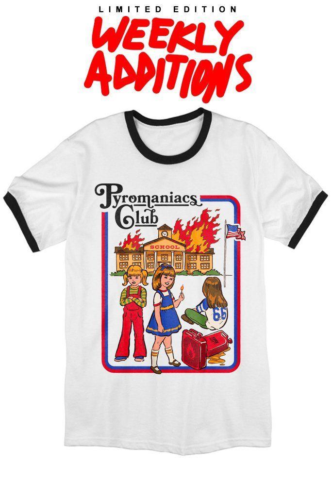 50027045e PYROMANIACS CLUB Cool Tees, Cool T Shirts, Ringer Tee, Cute Tshirts,  Aesthetic