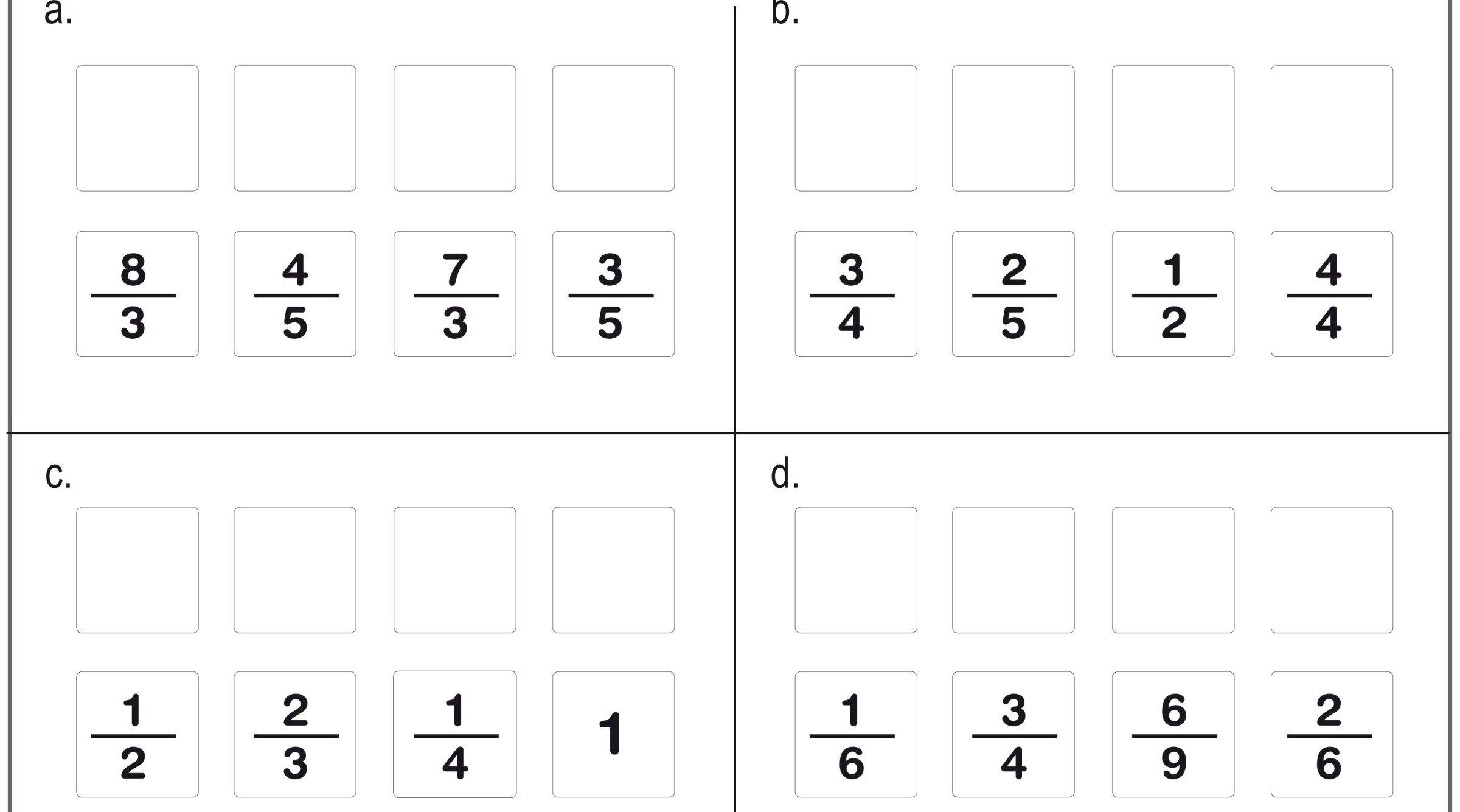 Ejercicos De Fracciones Para Repasar En Primaria Fracciones Ejercicios De Fracciones Fracciones Para Primaria