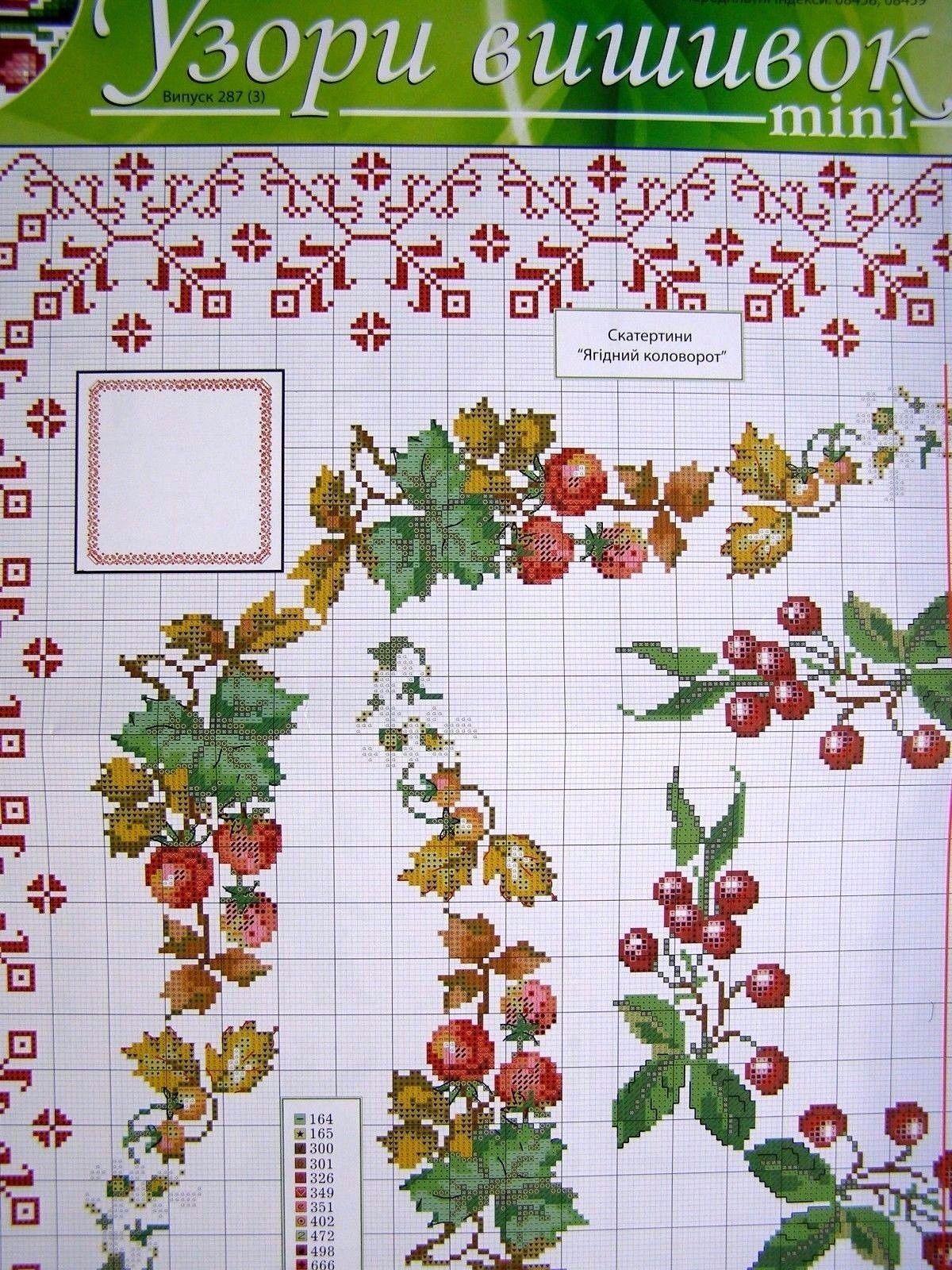Uz 10 Cross Stitch Ukrainian Embroidery Pattern Tablecloth Napkin Vyshyvanka Embroidery Patterns Cross Stitch Cross Stitch Designs