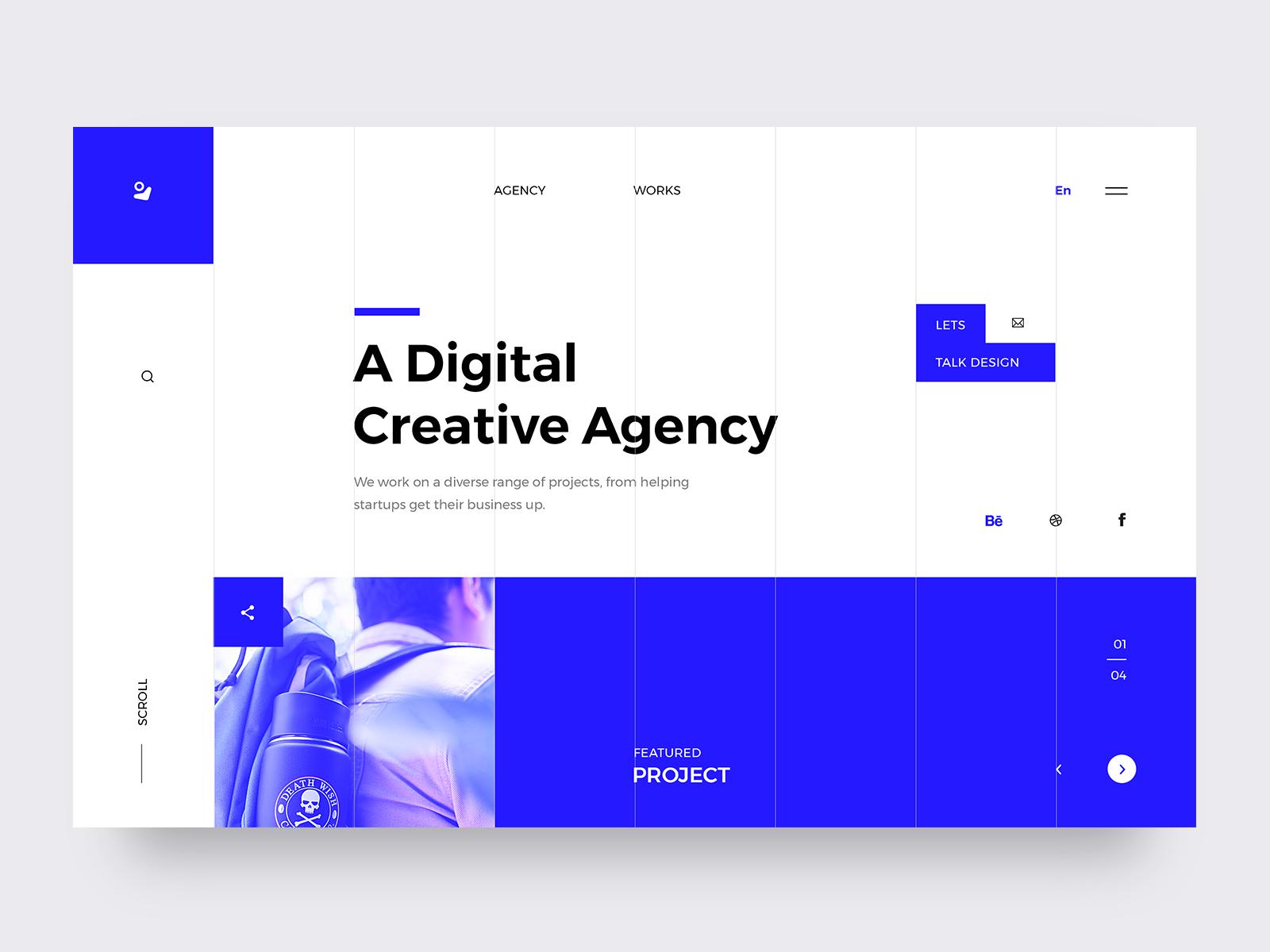Creative Agency - Landing Page trendy modern clean graphicdesign app design agency creative agency webpage layout interface webdesign branding typography concept landing website ux ui