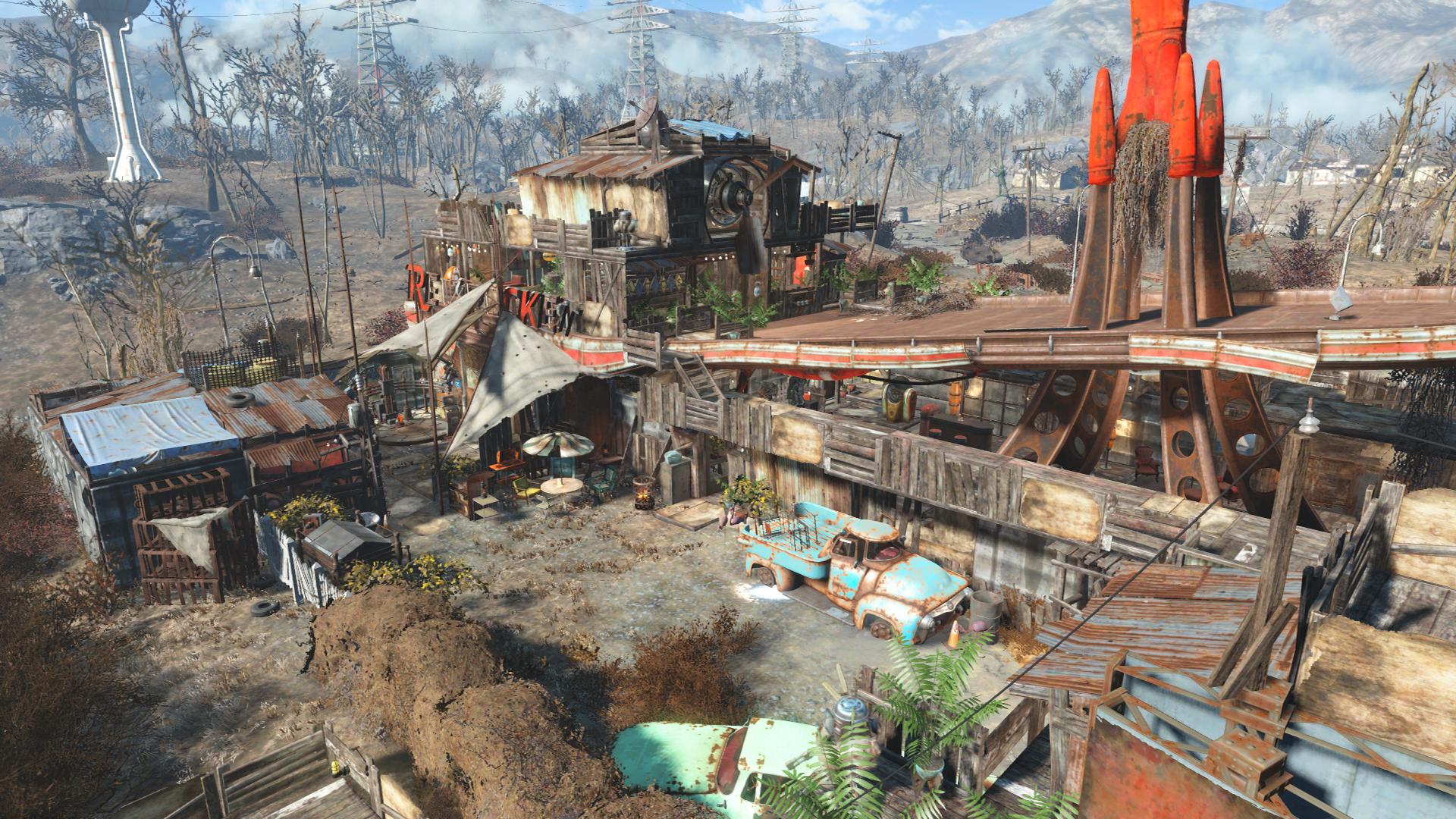 Fallout 4 Red Rocket Settlement