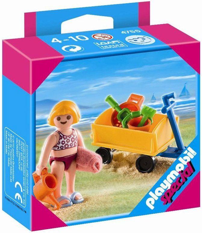 PLAYMOBIL Special Plus 4755 : Enfant avec jeux de plage
