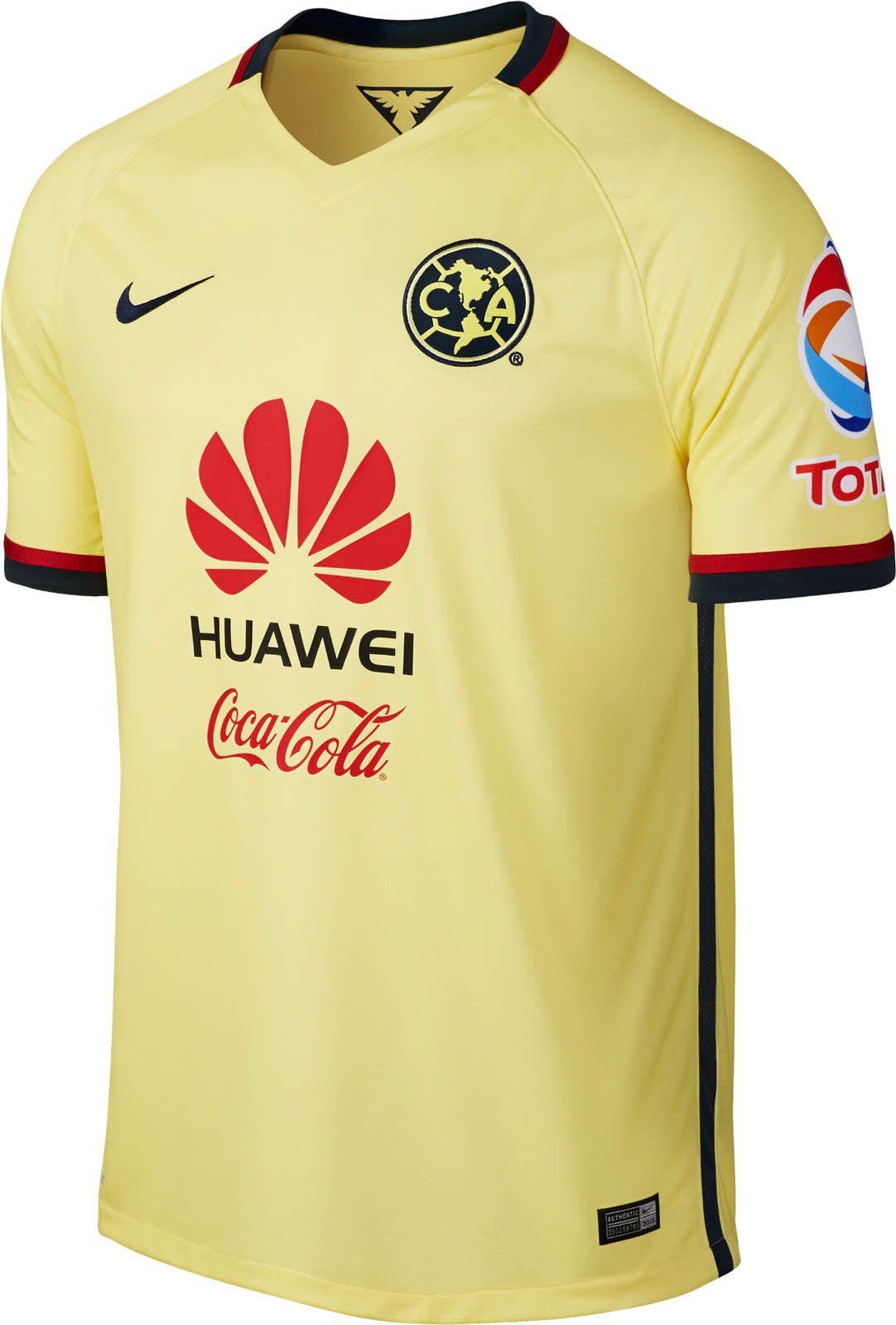 Club de Fútbol América (Mexico) - 2015 2016 Nike Home Shirt ... d22d6c4d8644d