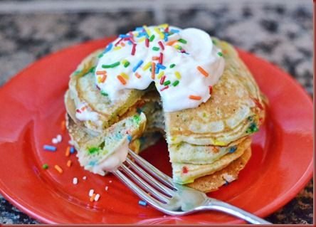 Birthday Pancakes....actually made these and they are the bomb diggity! I will make them for every birthday now!