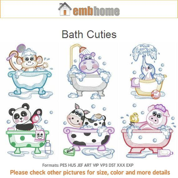 Bath Cuties Machine Embroidery Designs Instant By Embhome