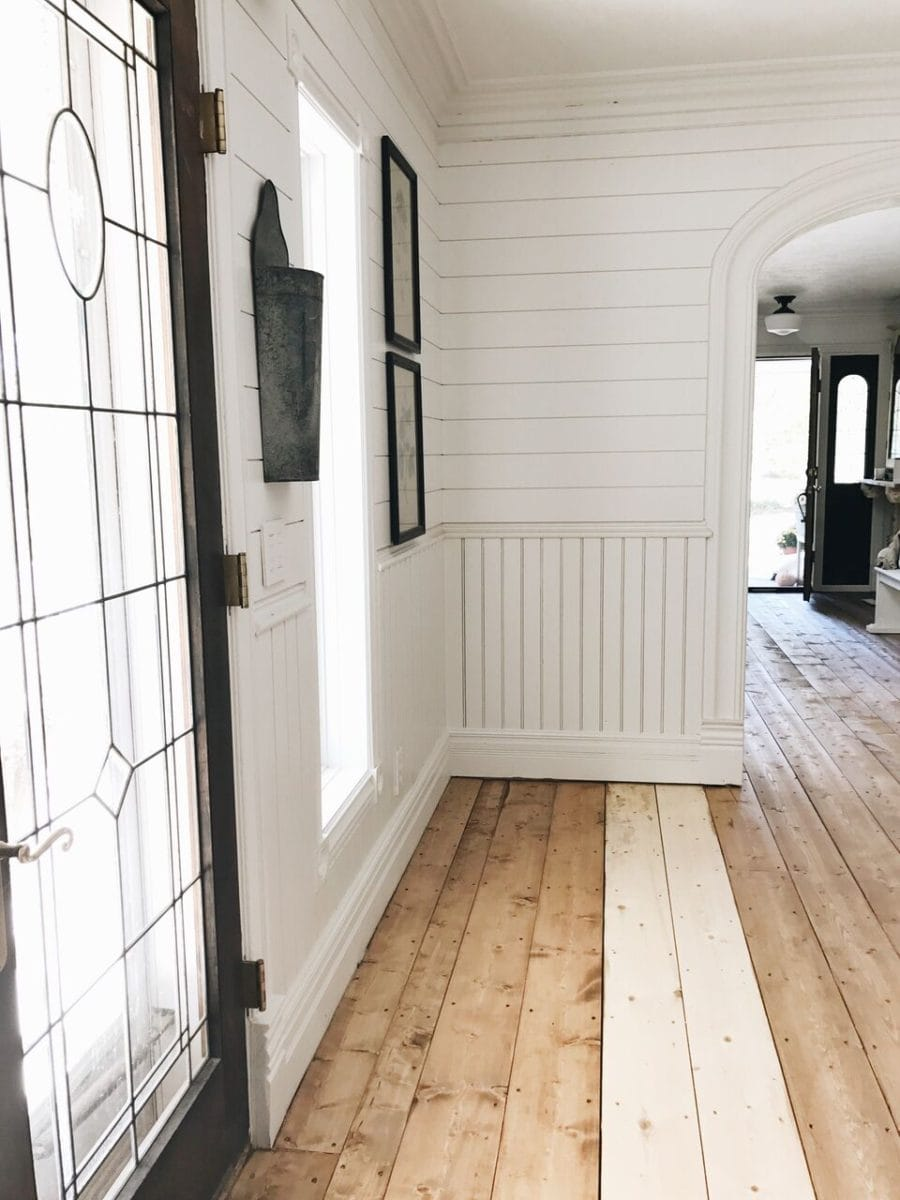 We Stained Our Floors!! in 2020 Pine floors, Floor stain