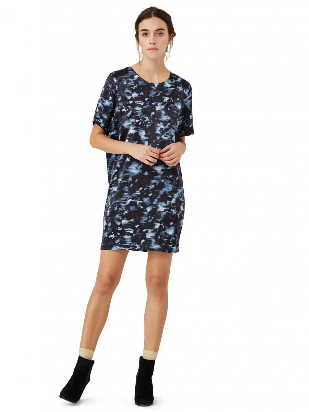 A silk dress that works as nicely as daytime wear as it does for an