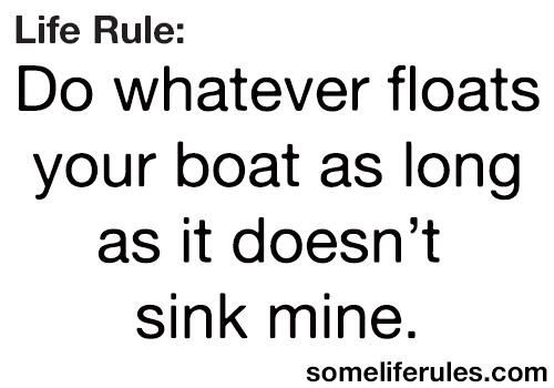 Do whatever floats your boat, as long as it doesn't sink