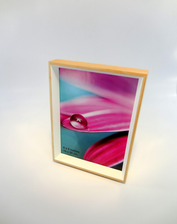 Modern Photo Frame Wood Picture Frame 6x8 Frame White Frame