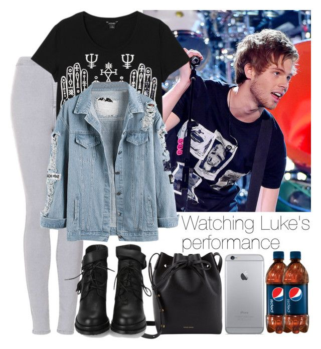 """""""Watching Luke's  performance"""" by mmbrambilla ❤ liked on Polyvore featuring Topshop, Monki and Mansur Gavriel"""