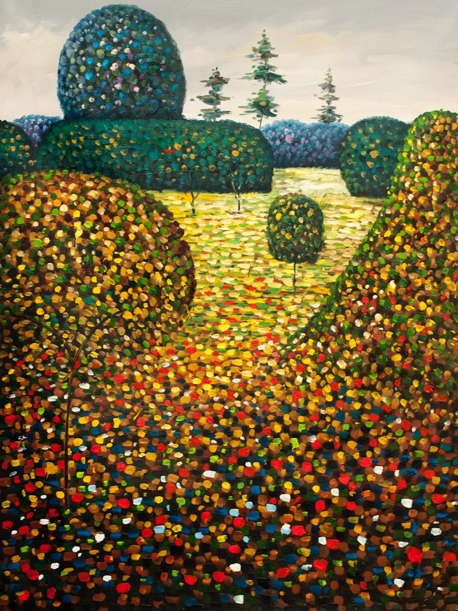 overstockArt Field of Poppies Oil Painting by Klimt