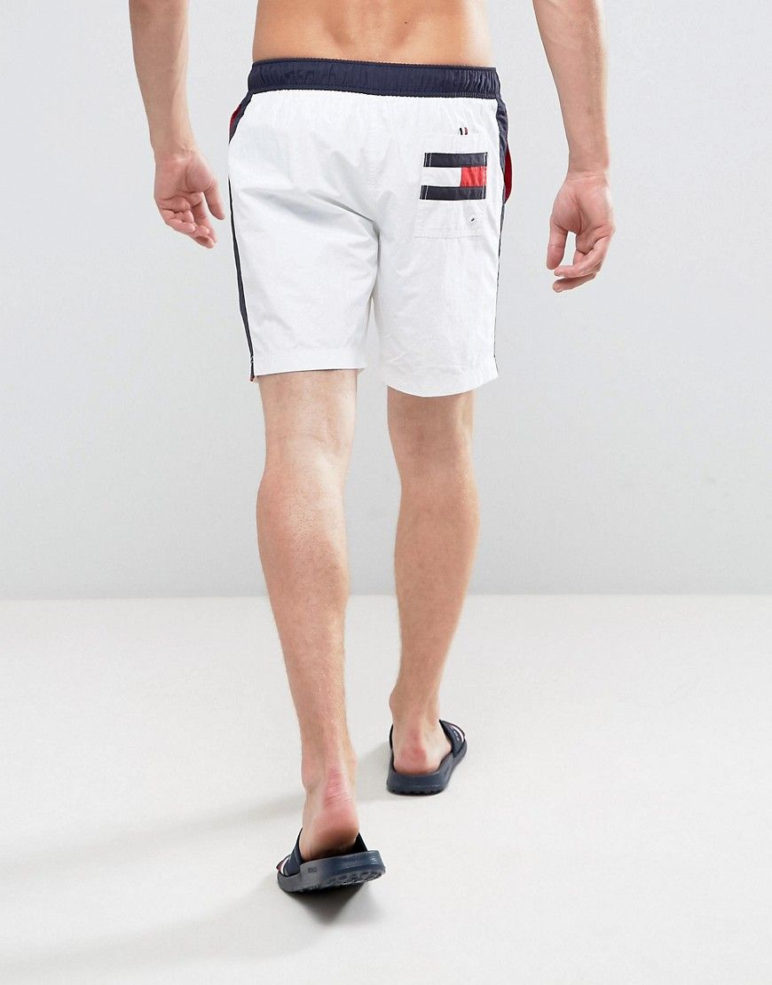 6fe267702e Tommy Hilfiger Swimshorts in White With Side Stripe | Products ...
