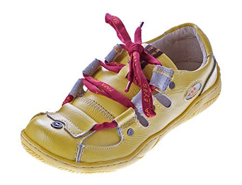 9e87127a66edca Leder Schuhe Damen Halbschuhe Sandaletten Gelb Schnürsenkel Bunt im Used  Look Gr. 38 - http