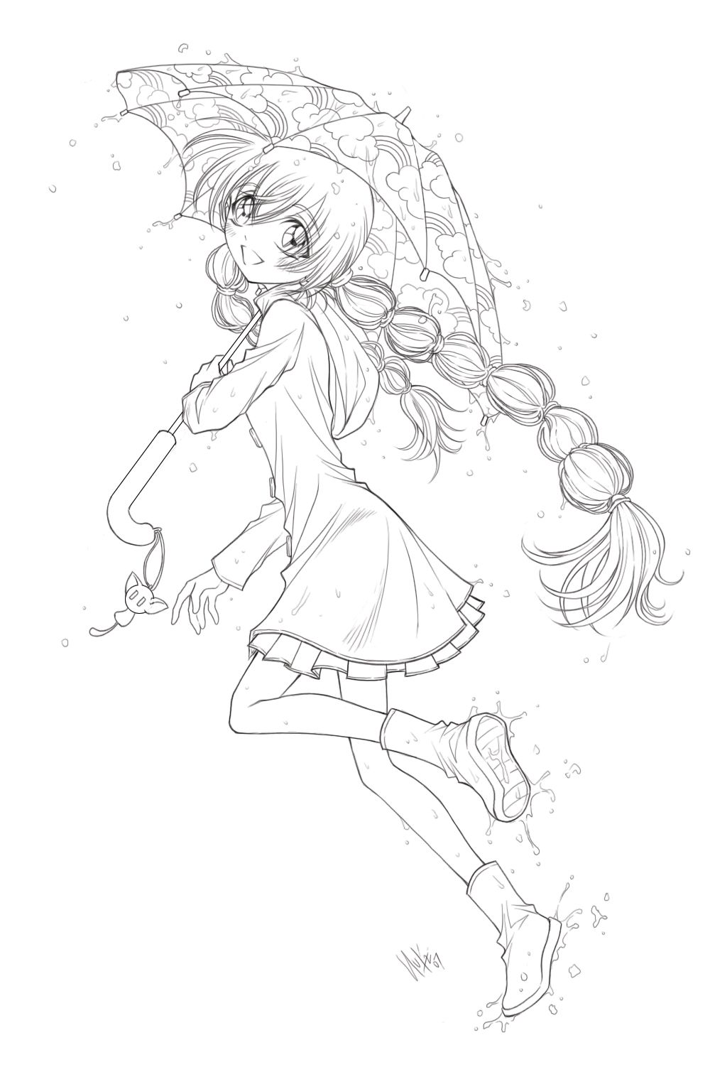 Umbrella girl by Sureya | LEGAL Digi Images | Pinterest | Girls ...
