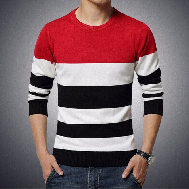 Mens V-Neck Polo Casual Long-Sleeve Slim Fit Pull On T-Shirts Red 5XL