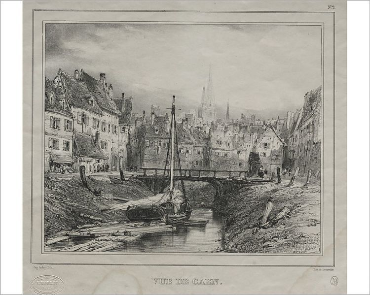 Photograph Vue De Caen 1832 Creator Eugene Isabey French 1803