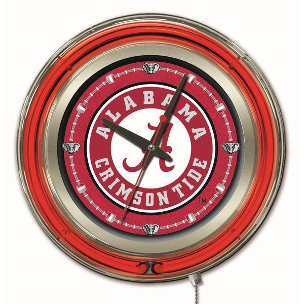 "Alabama Crimson Tide 15"" Team Logo Neon Clock - $124.99"