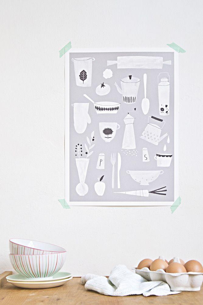 Kitchen print by Studio Meez