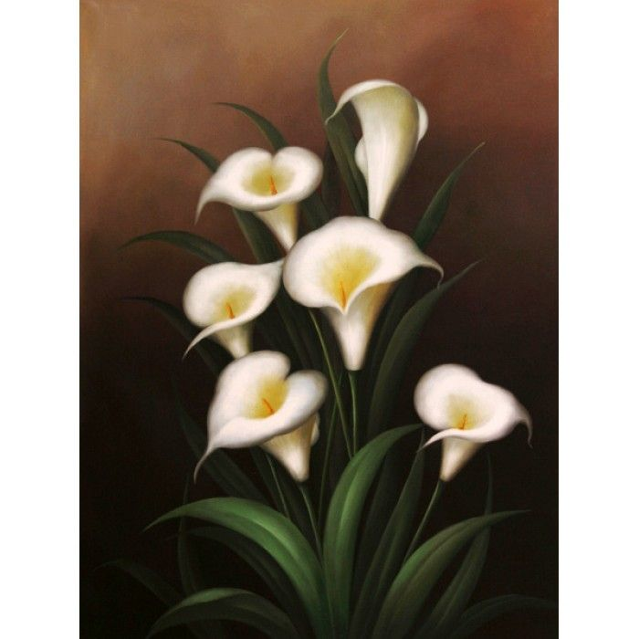 ON SALE! - Callas - $49.99 - Lilies - Hand Painted - Oil Paingings for Sale - Oil on Canvas - Cheap Canvas Art