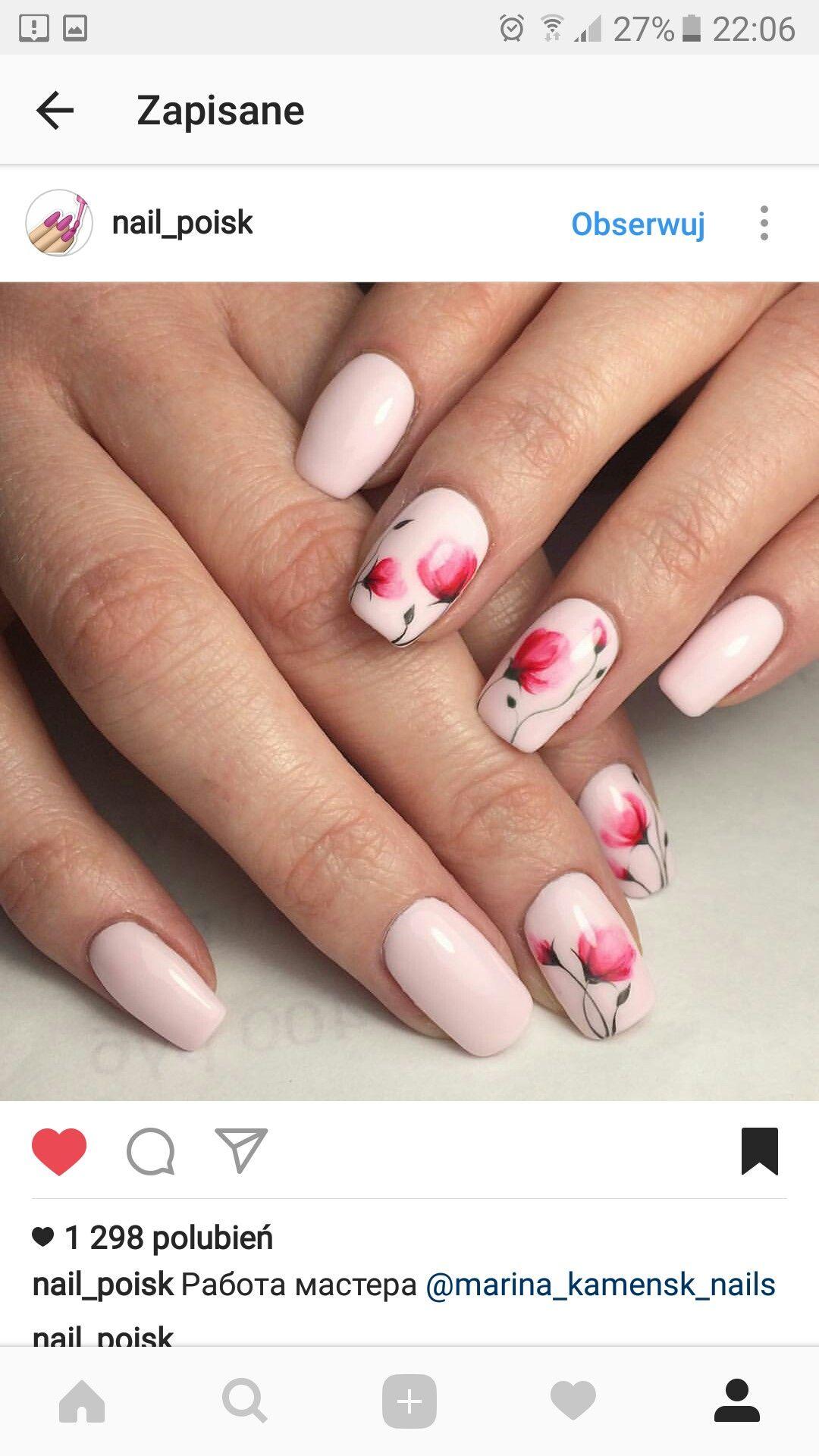 Pin von Magda Jaro auf nails FLOWER | Pinterest