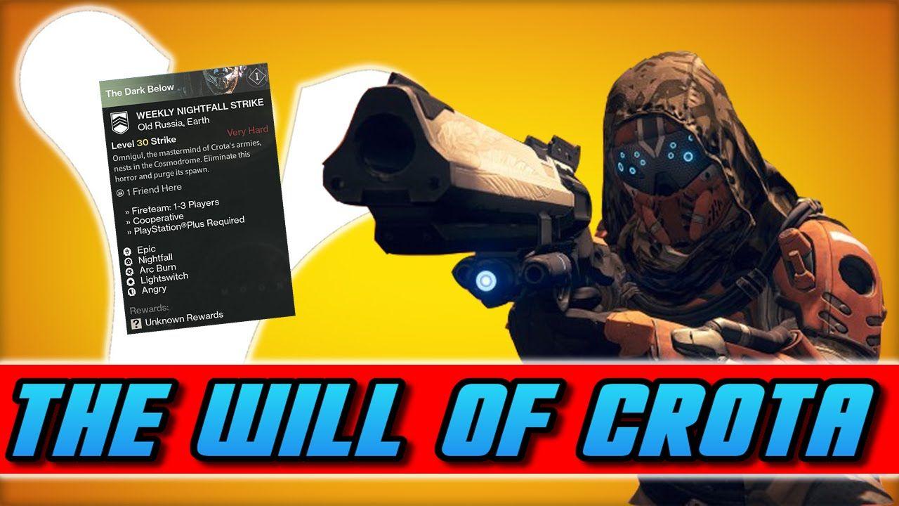 "Destiny - ""The Will of Crota"" Nightfall Strike Walkthrough (Dark Below Gameplay DLC)"