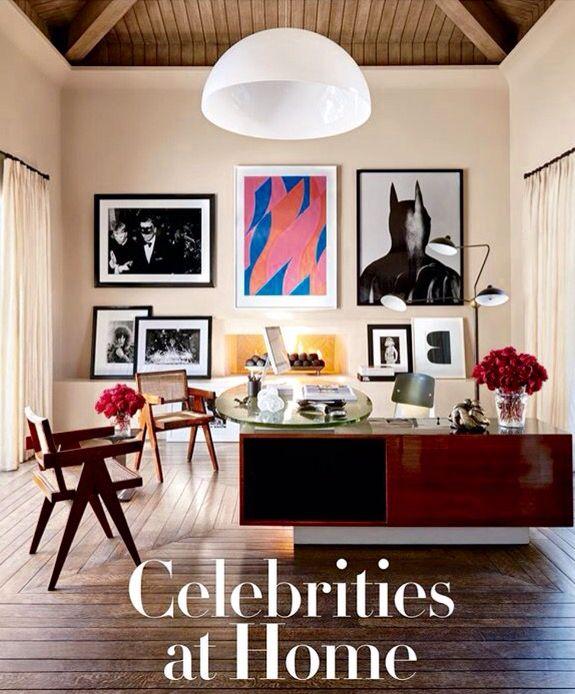 Kourtney Kardashians office in Architectural Digest ...
