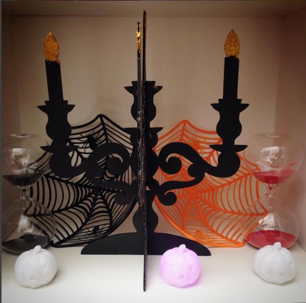 Candelabro de plastico para decorar sua mesa de halloween - Como decorar halloween ...