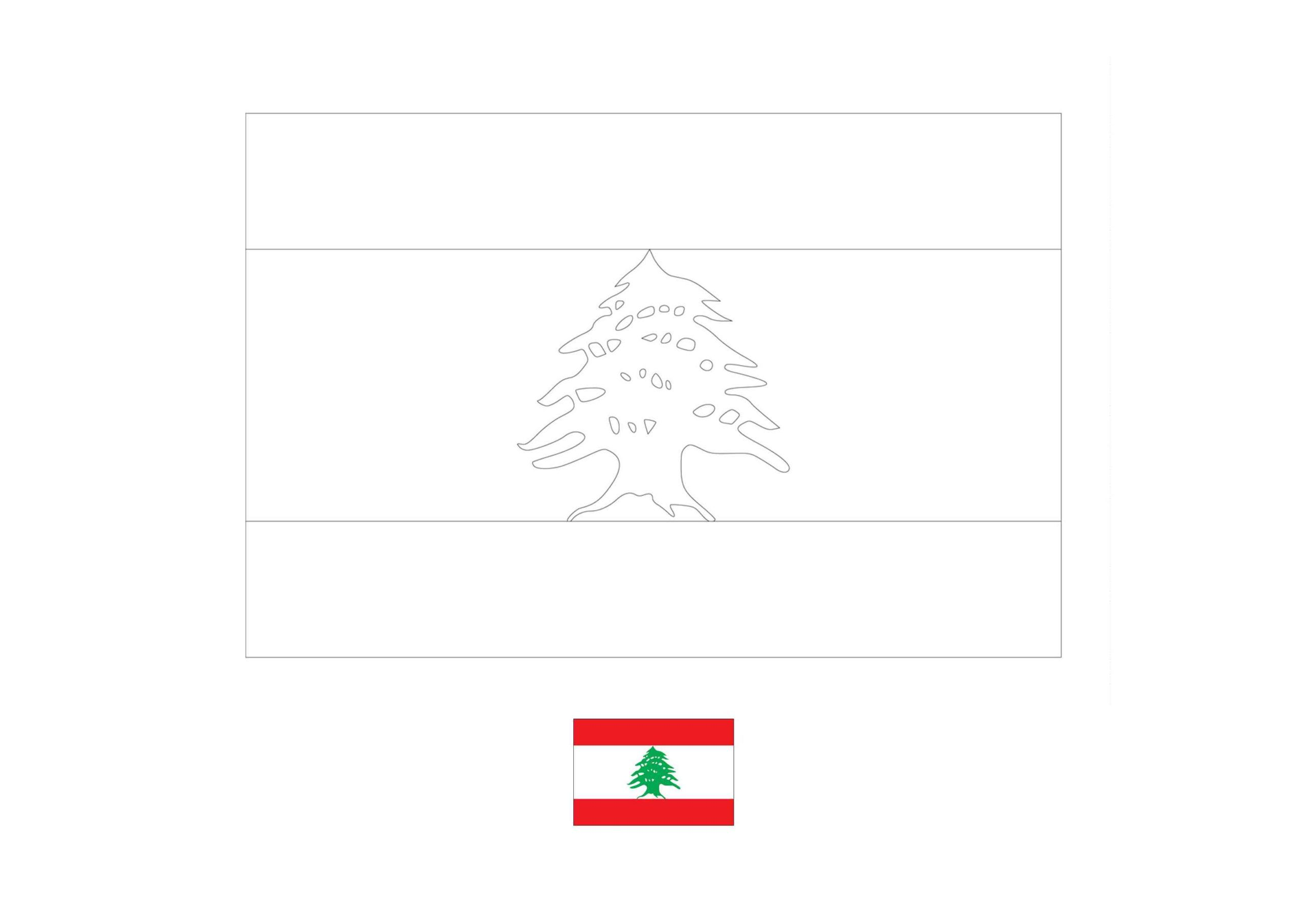 Flag Of Lebanon Coloring Page Free Coloring Sheets Coloring1
