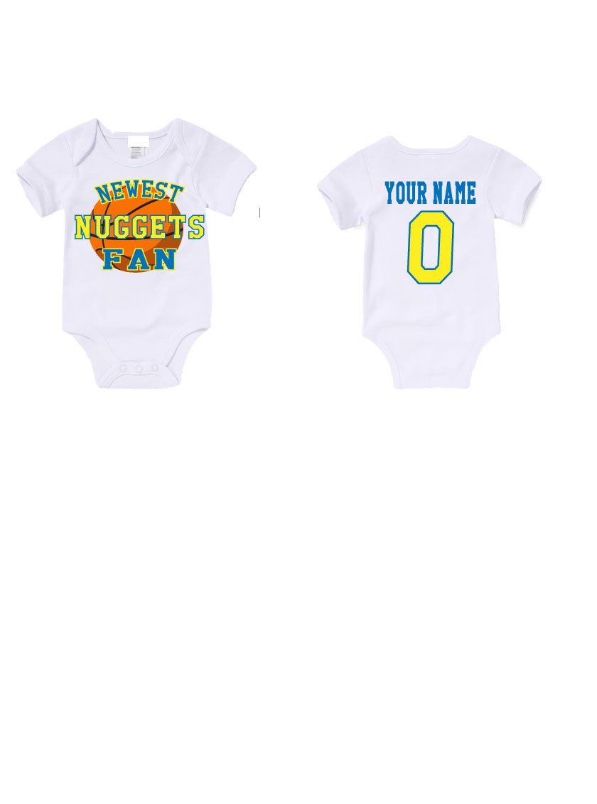 Newest Nuggets FAN Onesies /Baby Announcement/Baby Shower/ Baby gift/Birthday Shirt/Fan wear/Babywear by AGCustomsCreations on Etsy