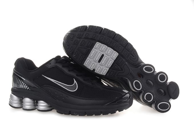 info for 09645 a34c6 Nike Shox R6 Shoes Black silver