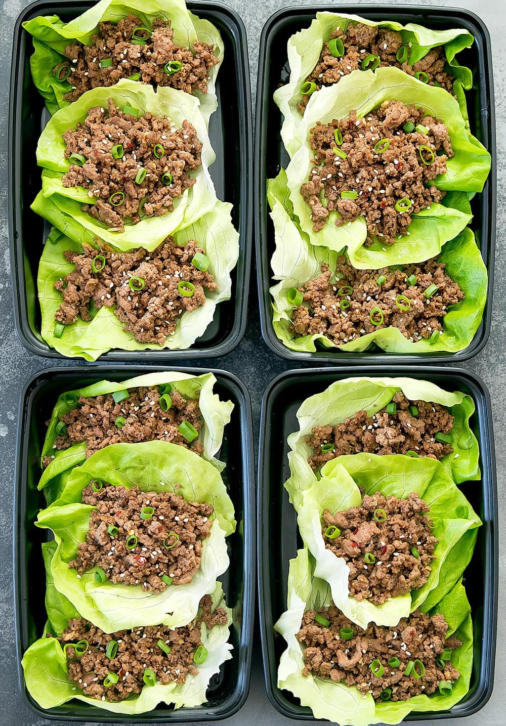 Easy Korean Beef Lettuce Wraps Kirbie S Cravings Recipe Beef Lettuce Wraps Healthy Ground Beef Lettuce Wraps Ground Beef