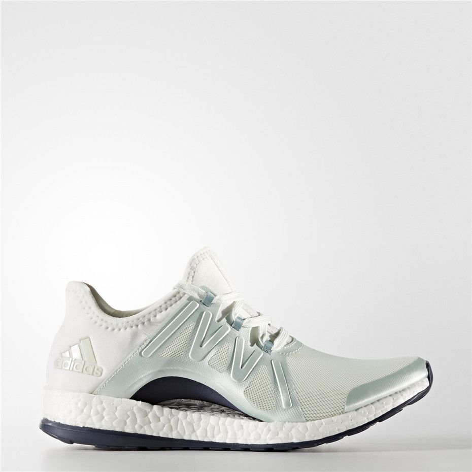 wholesale dealer fb90c 721ab Adidas PureBOOST Xpose Shoes (Linen Green  Crystal White)